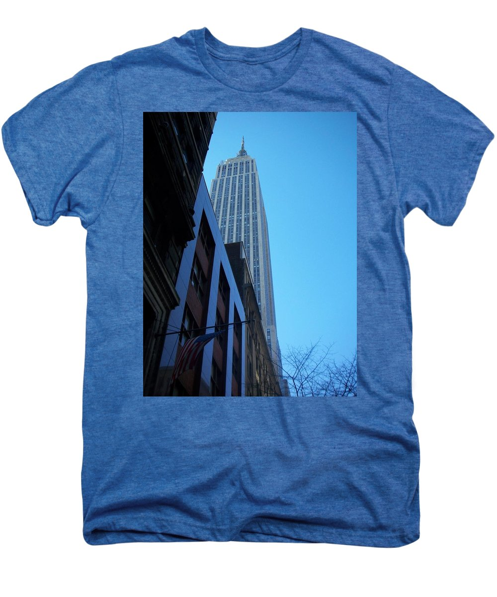 Emoire State Building Men's Premium T-Shirt featuring the photograph Empire State 1 by Anita Burgermeister