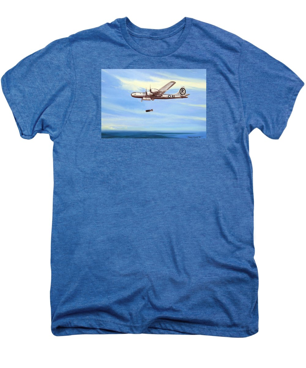 Military Men's Premium T-Shirt featuring the painting Enola Gay by Marc Stewart
