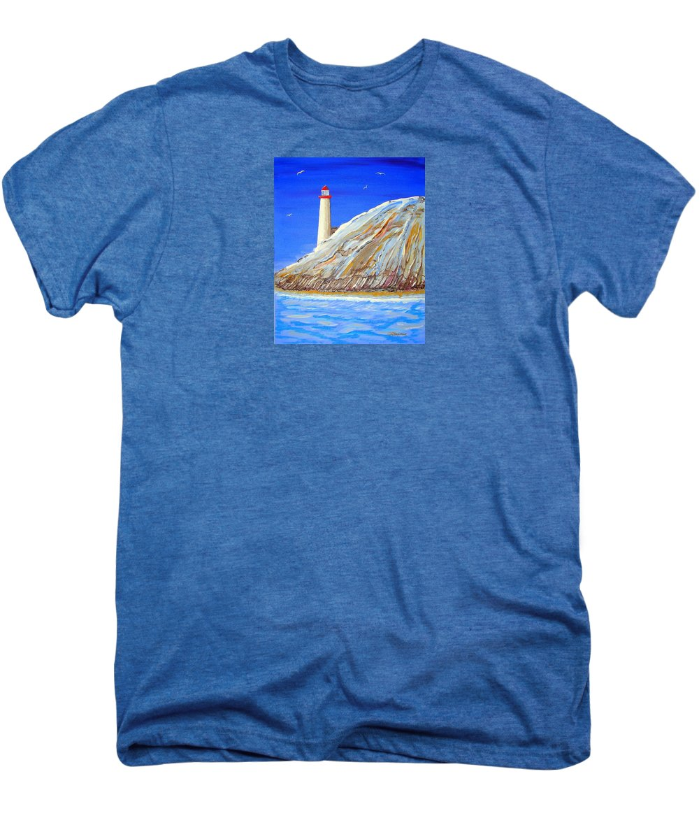 Impressionist Painting Men's Premium T-Shirt featuring the painting Entering The Harbor by J R Seymour