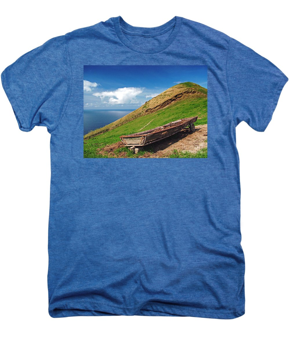 Europe Men's Premium T-Shirt featuring the photograph Farming In Azores Islands by Gaspar Avila