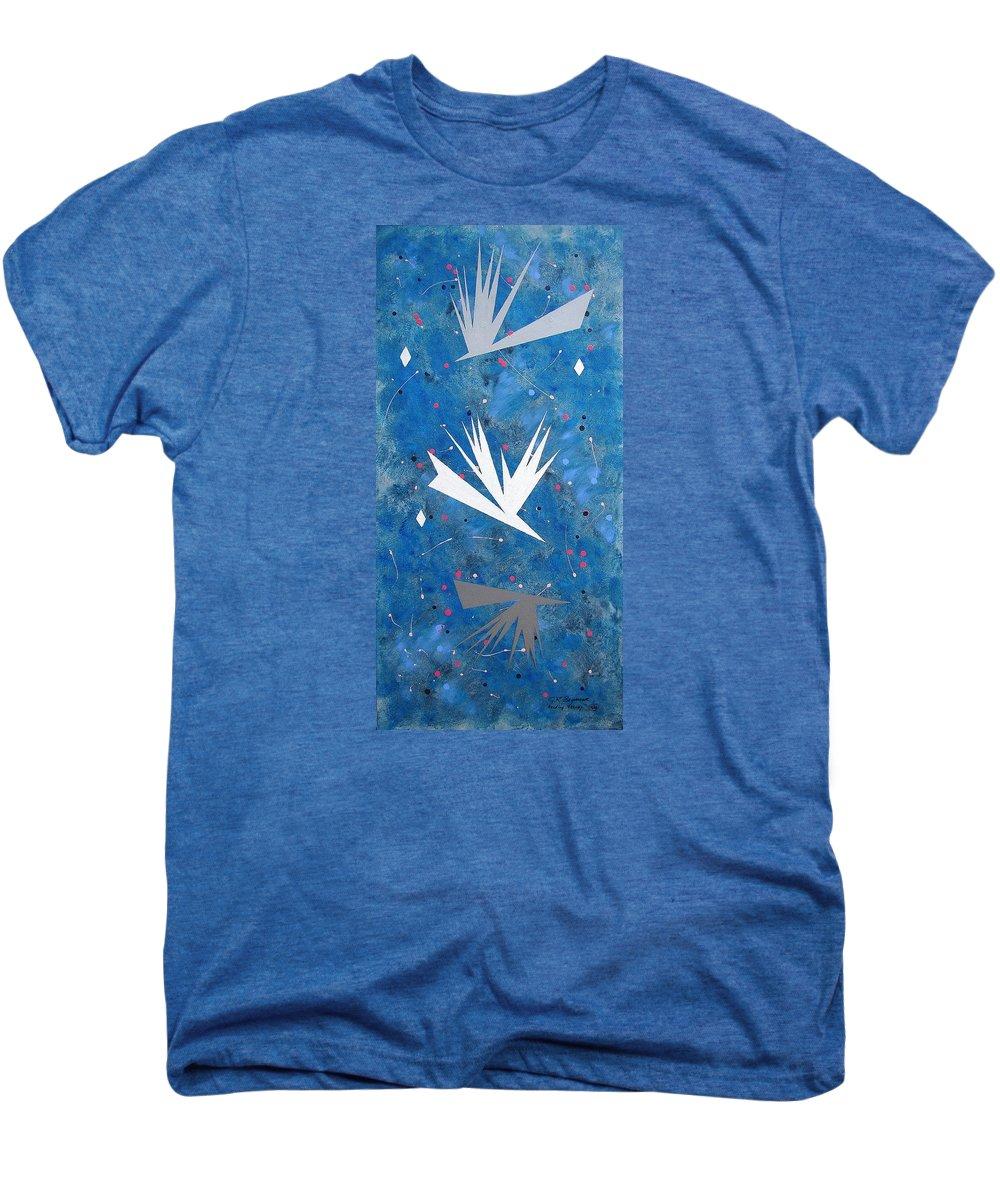 Birds And Diamond Stars Men's Premium T-Shirt featuring the painting Feeding Frenzy by J R Seymour
