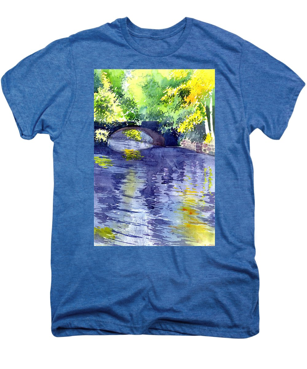 Nature Men's Premium T-Shirt featuring the painting Floods by Anil Nene