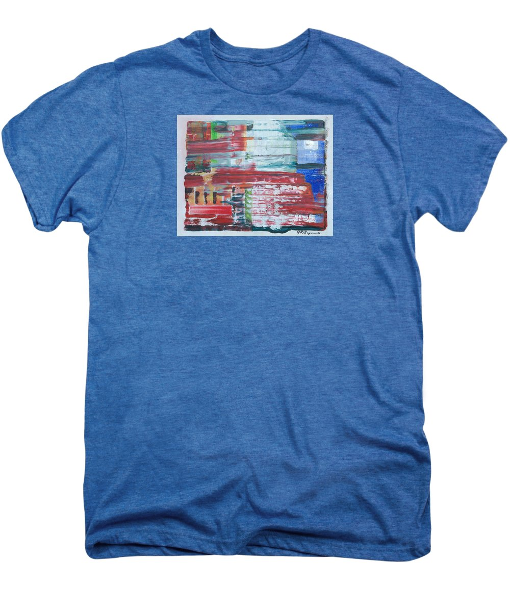 Impressionism Men's Premium T-Shirt featuring the painting Glass Blocks by J R Seymour