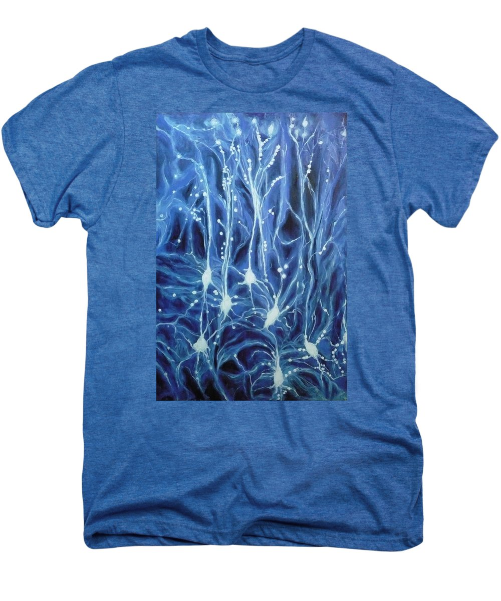 Brain Cell Men's Premium T-Shirt featuring the painting Inside The Brain by Ericka Herazo