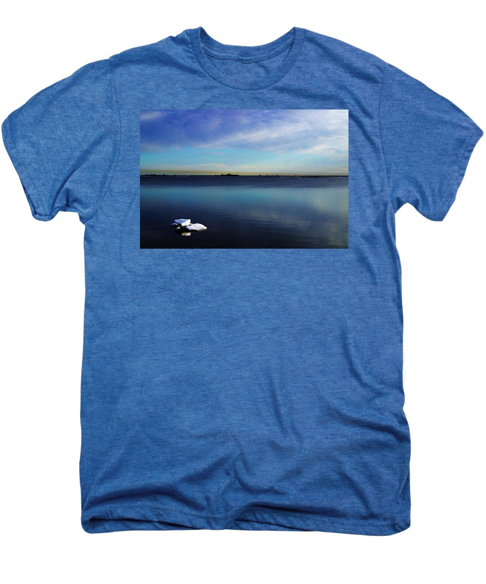 Landscape Men's Premium T-Shirt featuring the photograph Lone Ice by Anthony Jones
