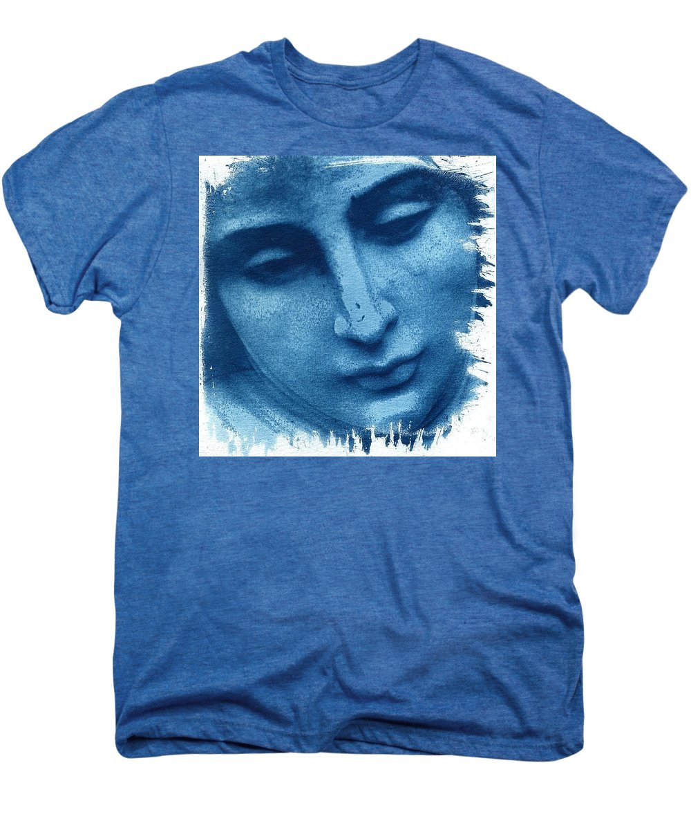 Blue Men's Premium T-Shirt featuring the photograph Marys Blues by Jane Linders