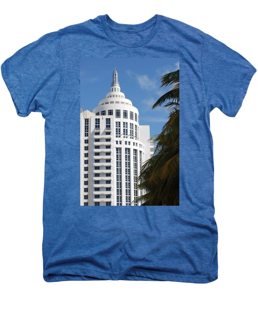 Architecture Men's Premium T-Shirt featuring the photograph Miami S Capitol Building by Rob Hans