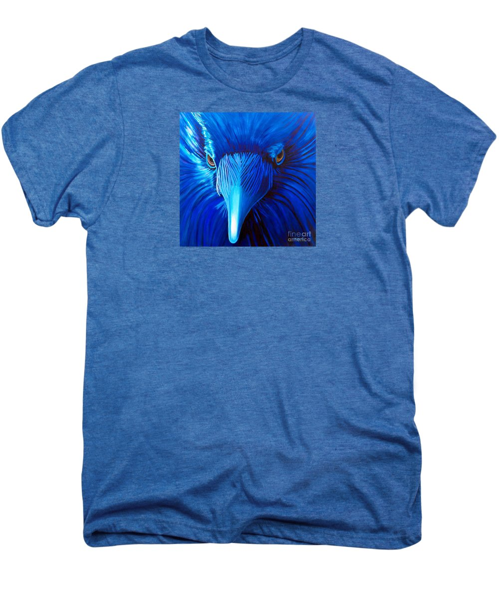 Raven Men's Premium T-Shirt featuring the painting Midnight Magic by Brian Commerford