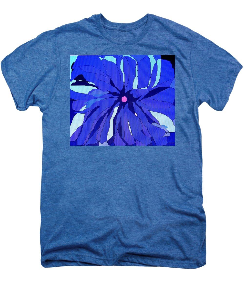 Flower Men's Premium T-Shirt featuring the digital art My Fantastic Flower by Ian MacDonald