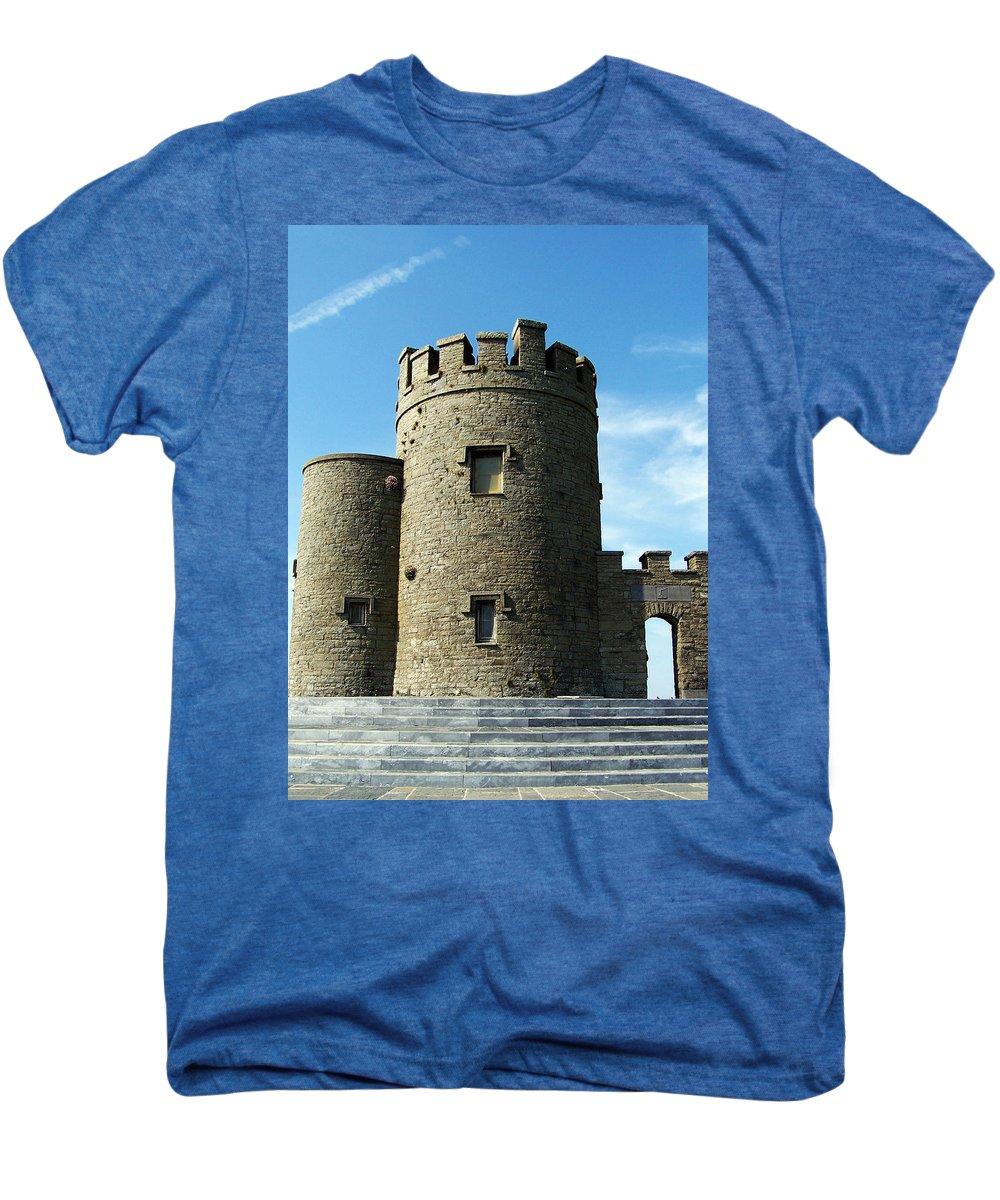 Irish Men's Premium T-Shirt featuring the photograph O Brien's Tower Cliffs Of Moher Ireland by Teresa Mucha
