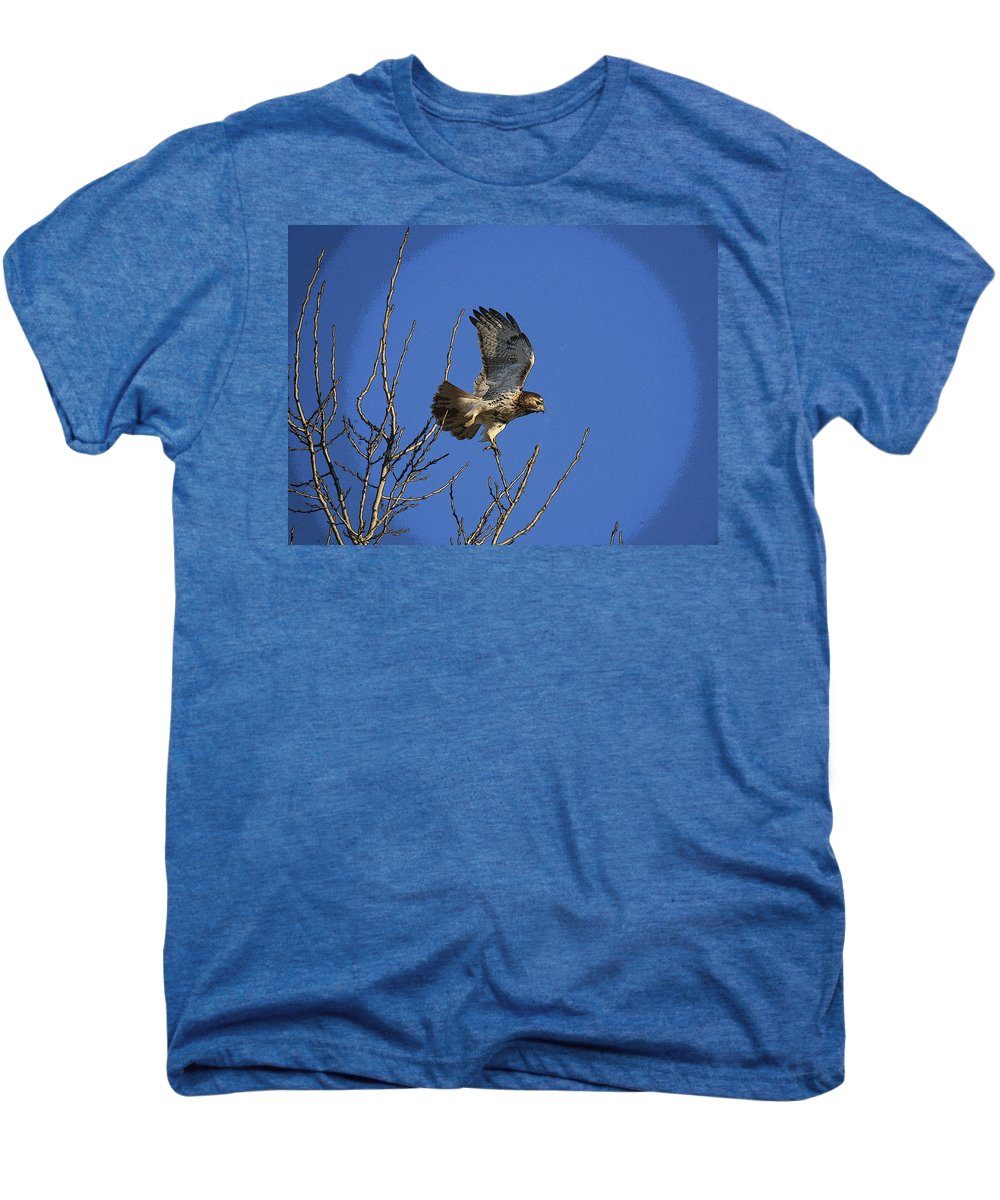 Hawk Men's Premium T-Shirt featuring the photograph On The Move by Robert Pearson