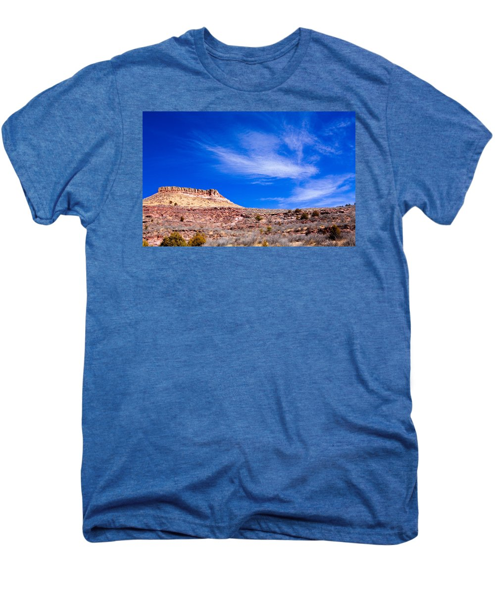 Red Men's Premium T-Shirt featuring the photograph Outside Lyons Colorado by Marilyn Hunt