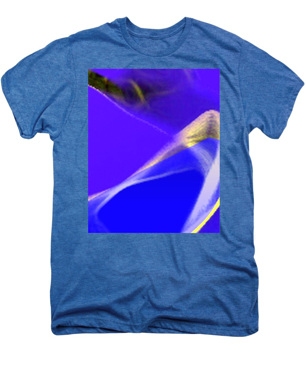 Abstract Men's Premium T-Shirt featuring the digital art panel three from Movement in Blue by Steve Karol