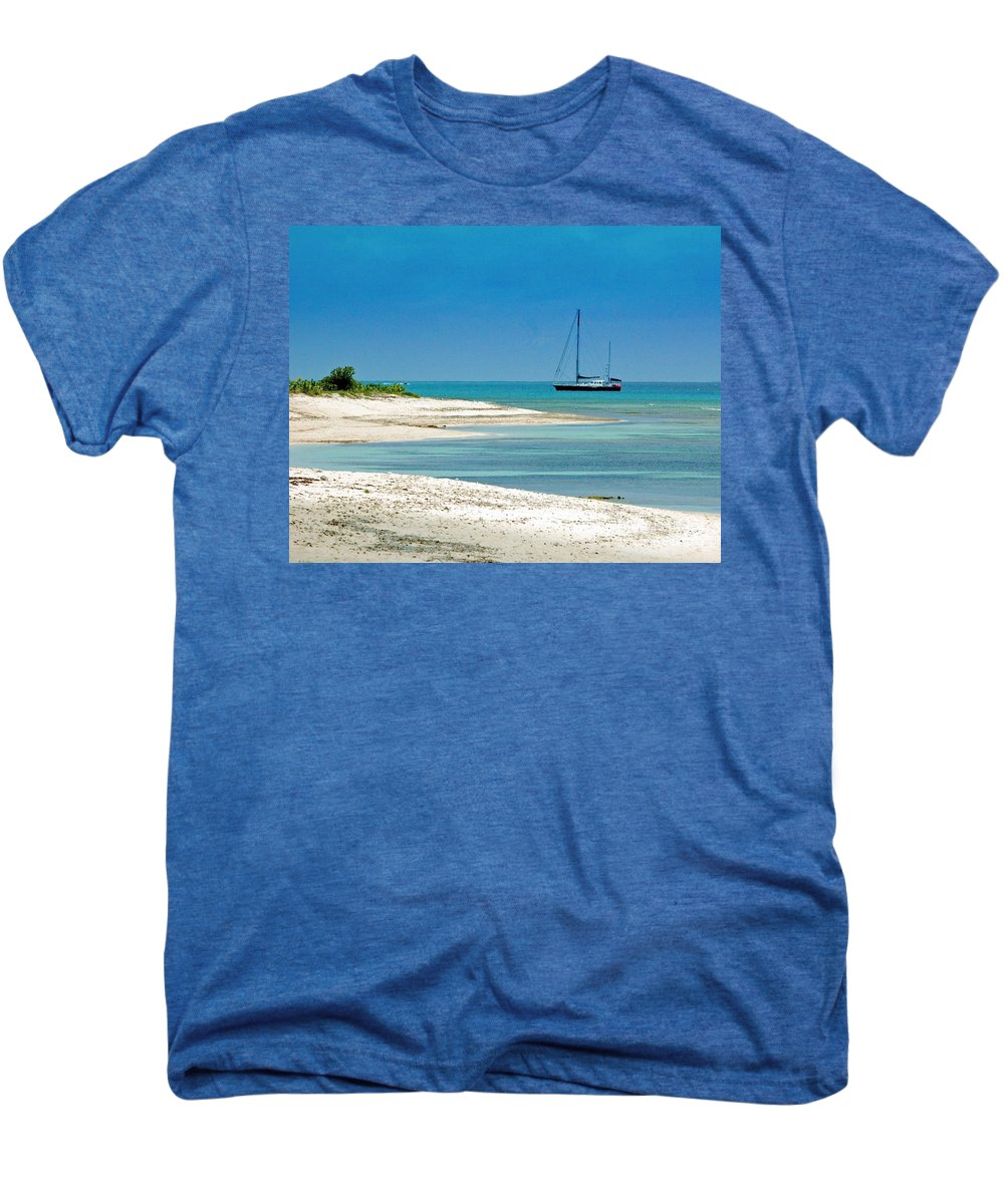 Boat Men's Premium T-Shirt featuring the photograph Paradise Found by Debbi Granruth