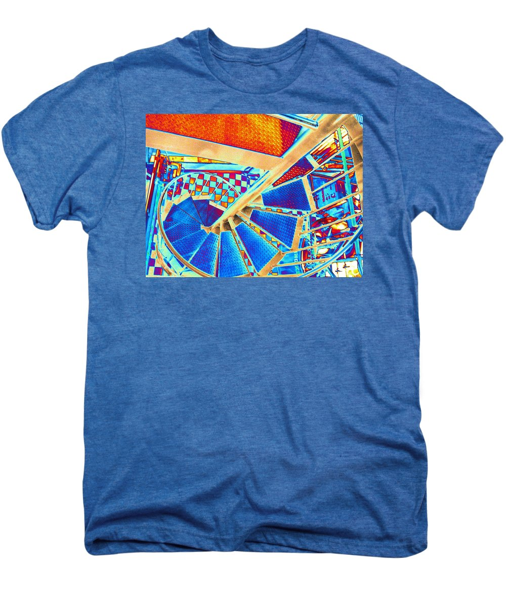 Seattle Men's Premium T-Shirt featuring the digital art Pike Brewpub Stair by Tim Allen
