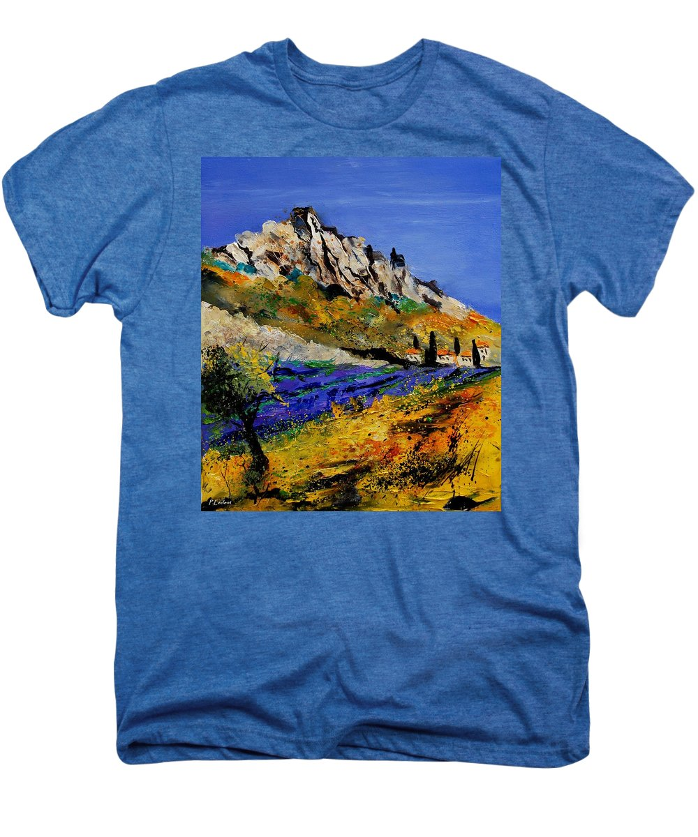Flowers Men's Premium T-Shirt featuring the painting Provence 560908 by Pol Ledent