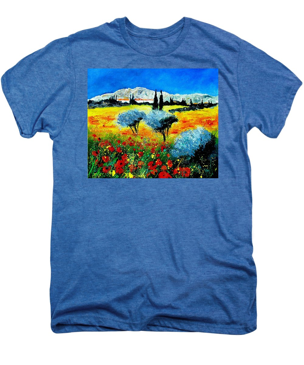 Poppies Men's Premium T-Shirt featuring the painting Provence by Pol Ledent