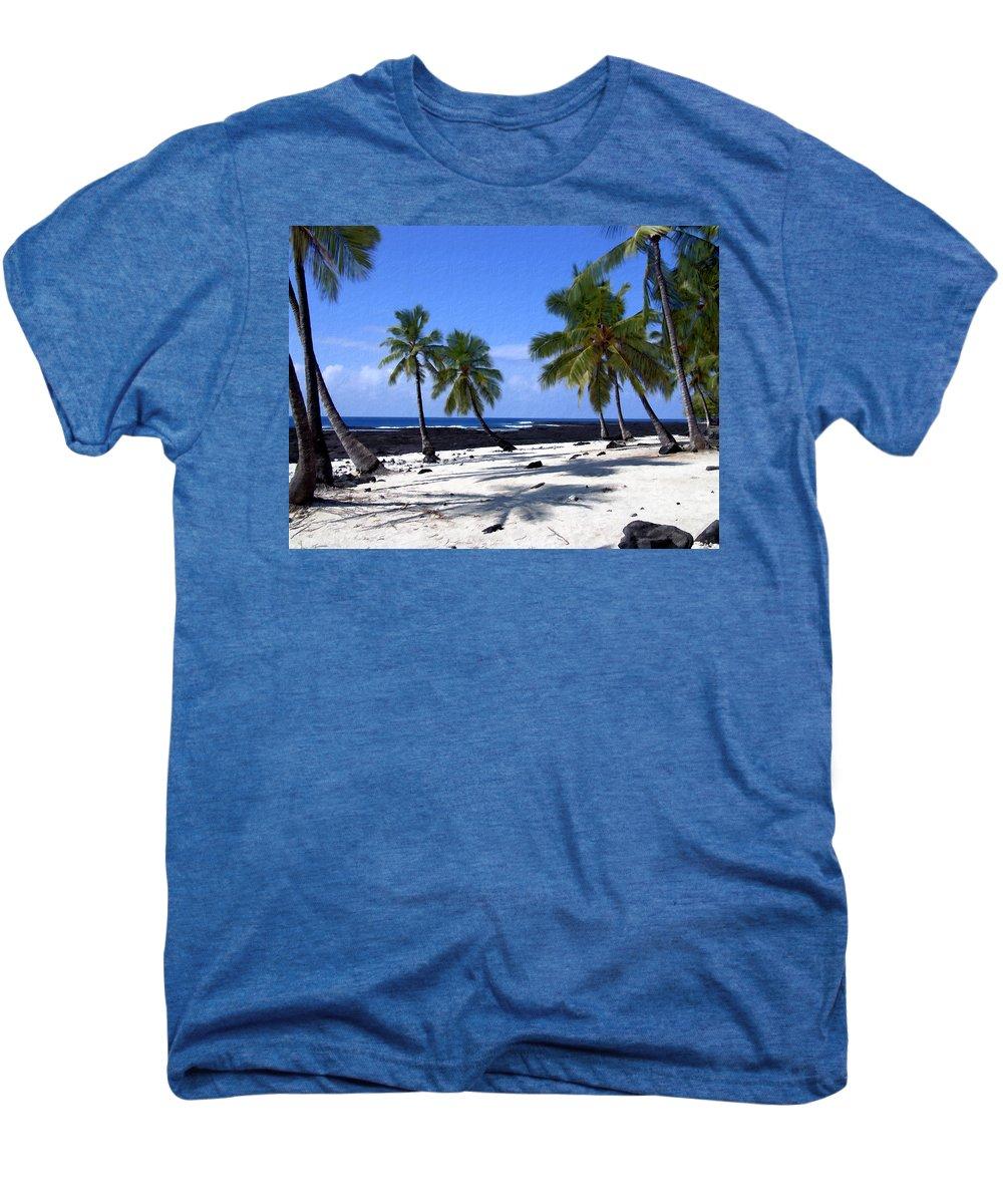 Hawaii Men's Premium T-Shirt featuring the photograph Pu Uhonua O Honaunau by Kurt Van Wagner