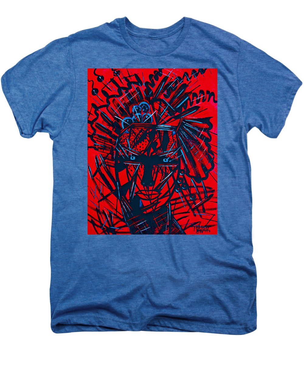Abstract Men's Premium T-Shirt featuring the painting Red Exotica by Natalie Holland