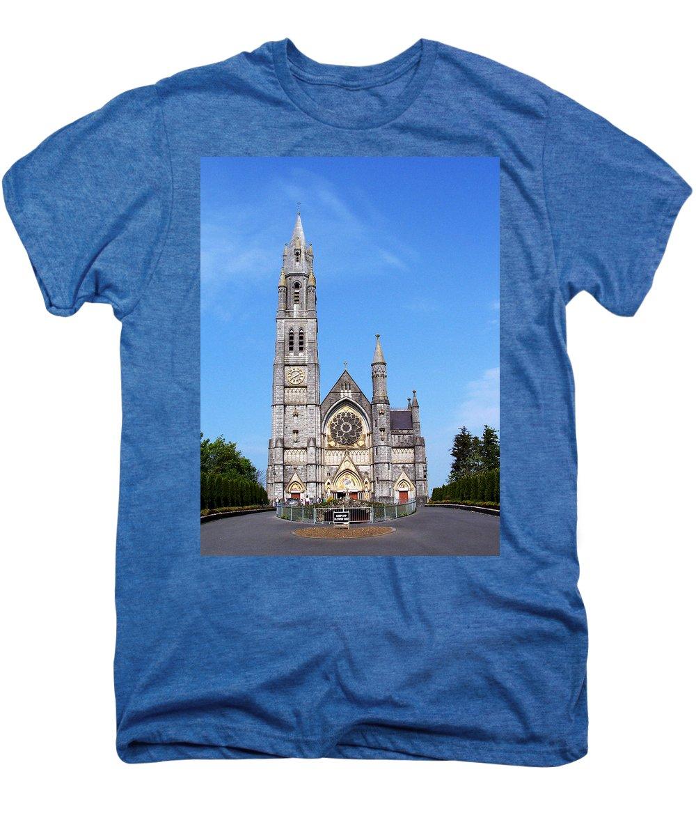 Ireland Men's Premium T-Shirt featuring the photograph Sacred Heart Church Roscommon Ireland by Teresa Mucha