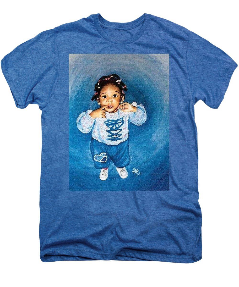 Child Men's Premium T-Shirt featuring the pastel Sadie by Gale Cochran-Smith