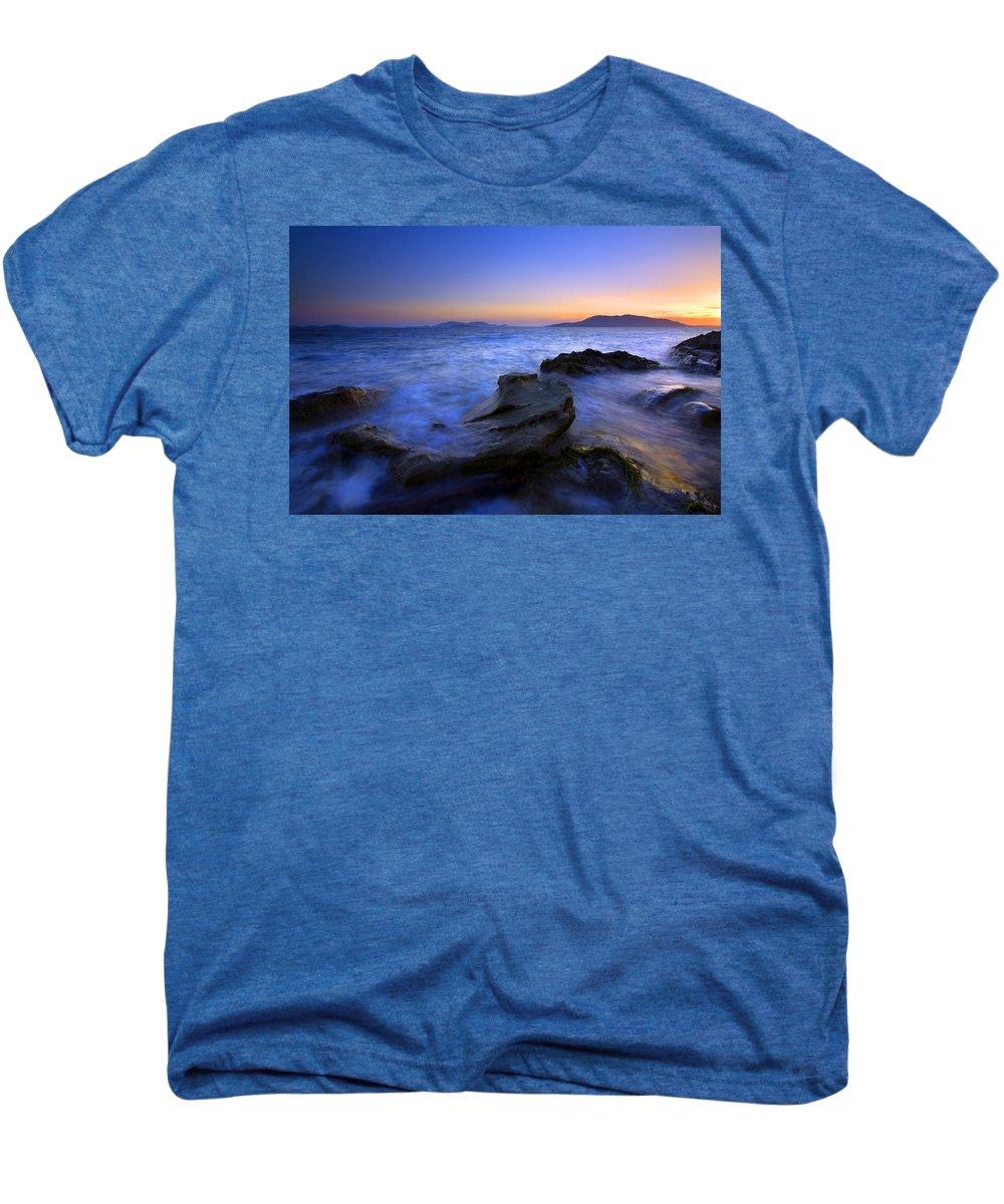 Sunset Men's Premium T-Shirt featuring the photograph San Juan Sunset by Mike Dawson
