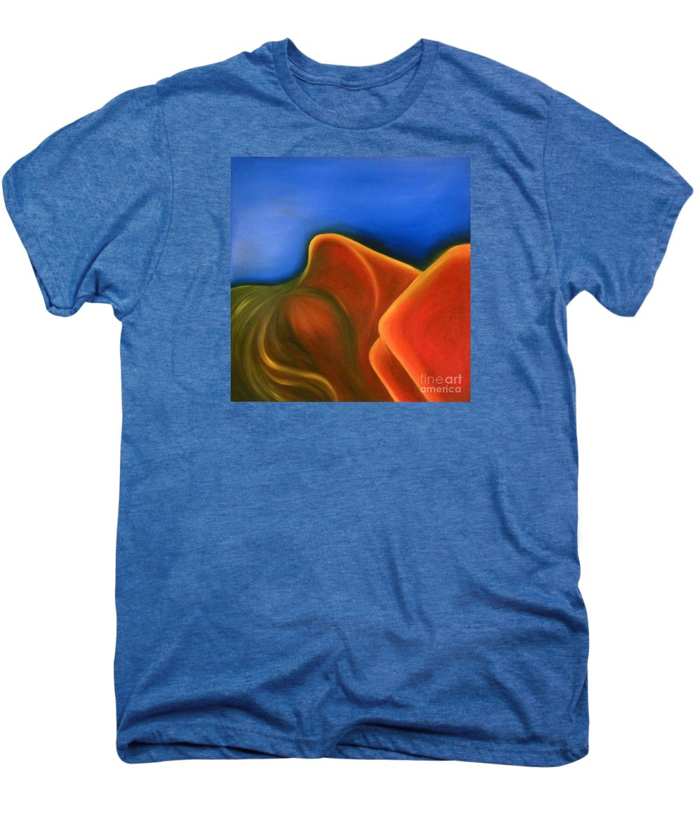 Woman Paintings Men's Premium T-Shirt featuring the painting Sinuous Curves Iv by Fanny Diaz