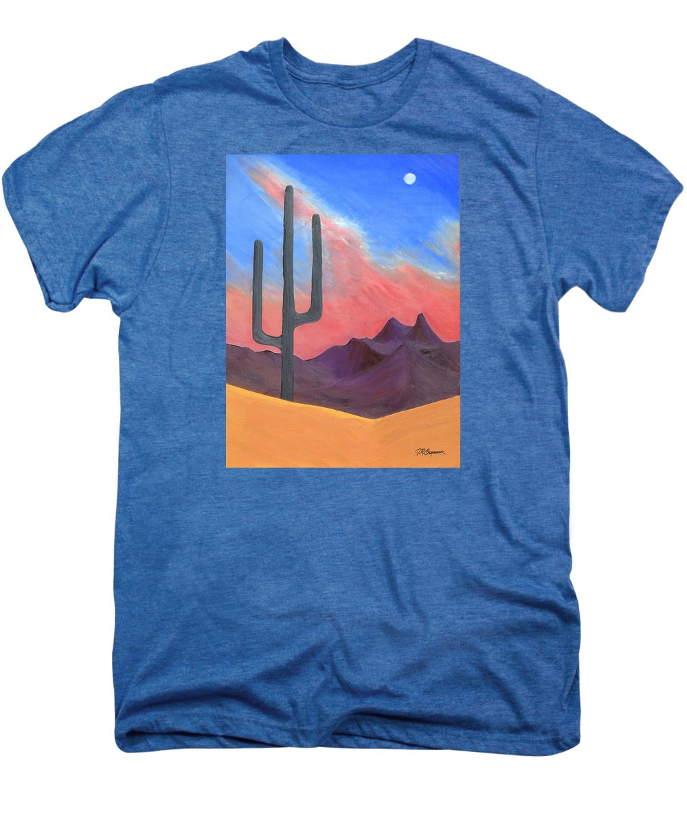 Cactus Men's Premium T-Shirt featuring the painting Southwest Scene by J R Seymour