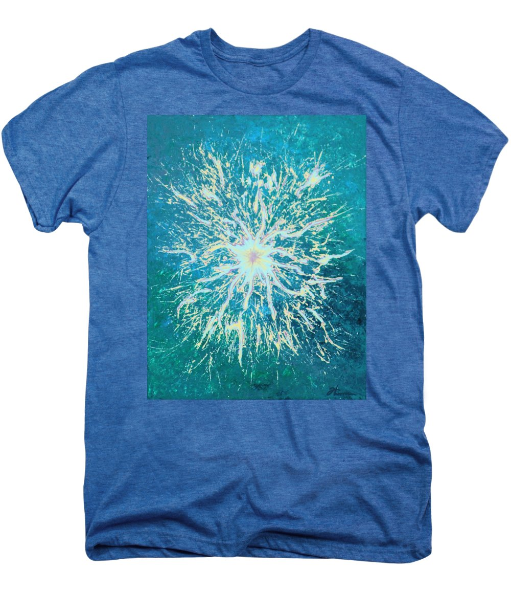 Acrylic Men's Premium T-Shirt featuring the painting Static by Todd Hoover
