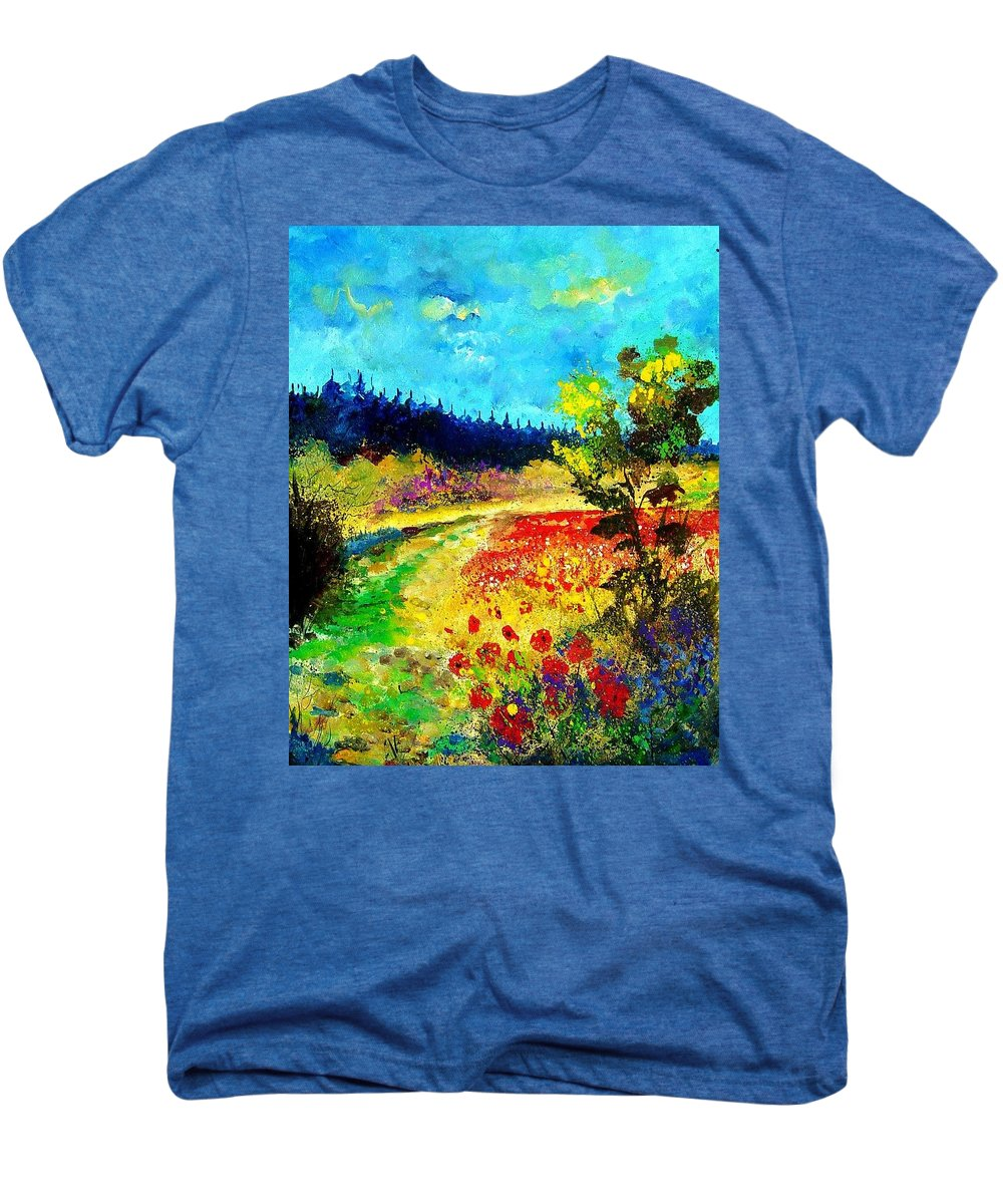 Flowers Men's Premium T-Shirt featuring the painting Summer by Pol Ledent