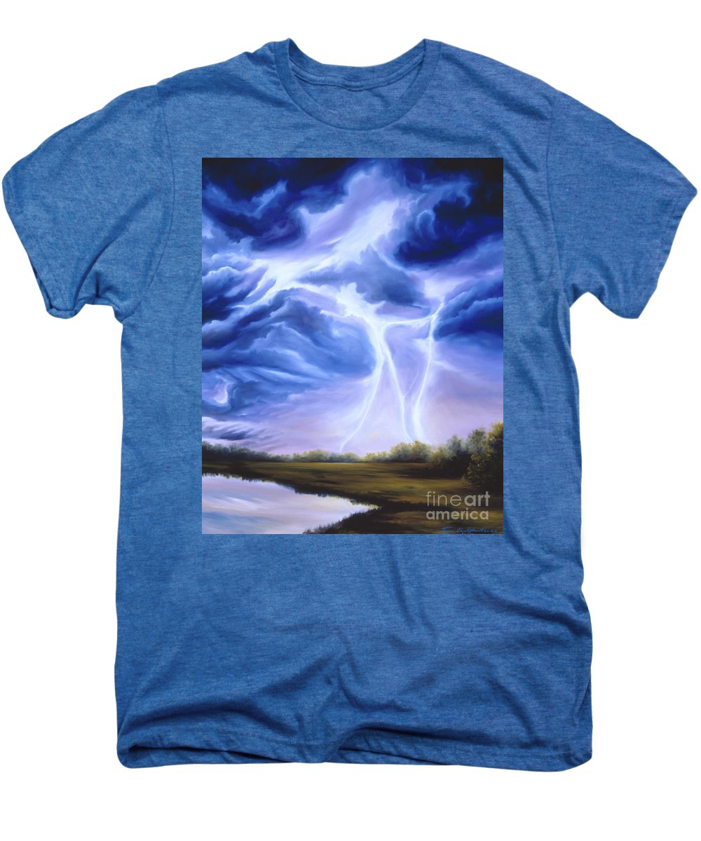 Marsh Men's Premium T-Shirt featuring the painting Tesla by James Christopher Hill