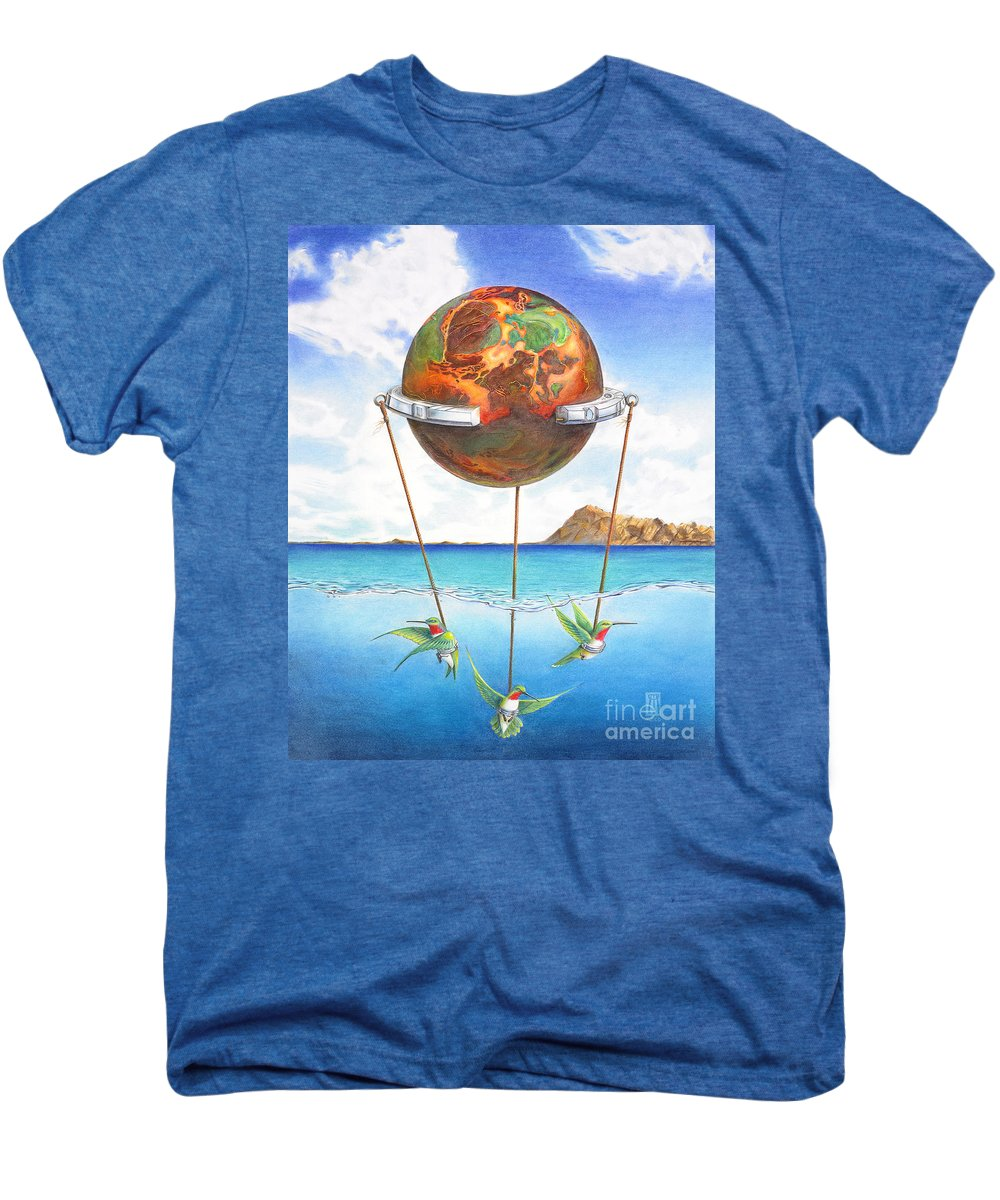 Surreal Men's Premium T-Shirt featuring the painting Tethered Sphere by Melissa A Benson