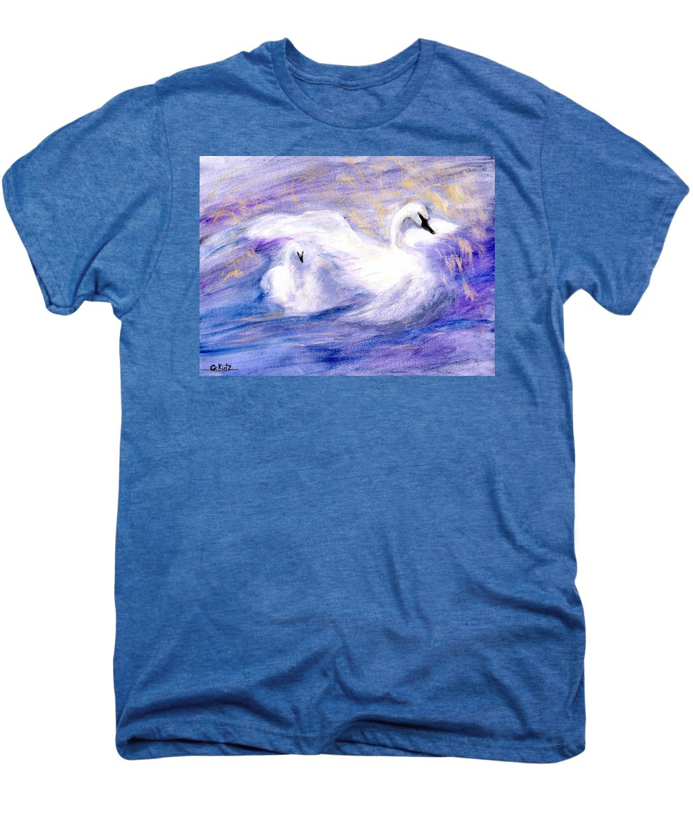 Birds Men's Premium T-Shirt featuring the painting Transformation by Gail Kirtz