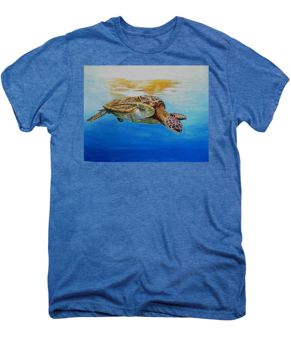 Wildlife Men's Premium T-Shirt featuring the painting Up For Some Rays by Ceci Watson