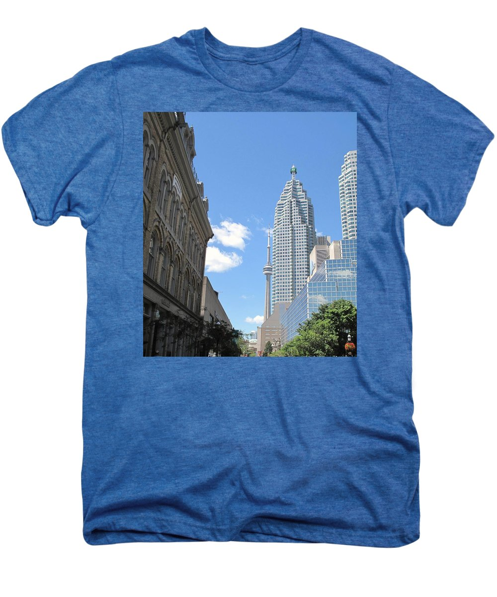 Front Street Men's Premium T-Shirt featuring the photograph Urban Canyon by Ian MacDonald