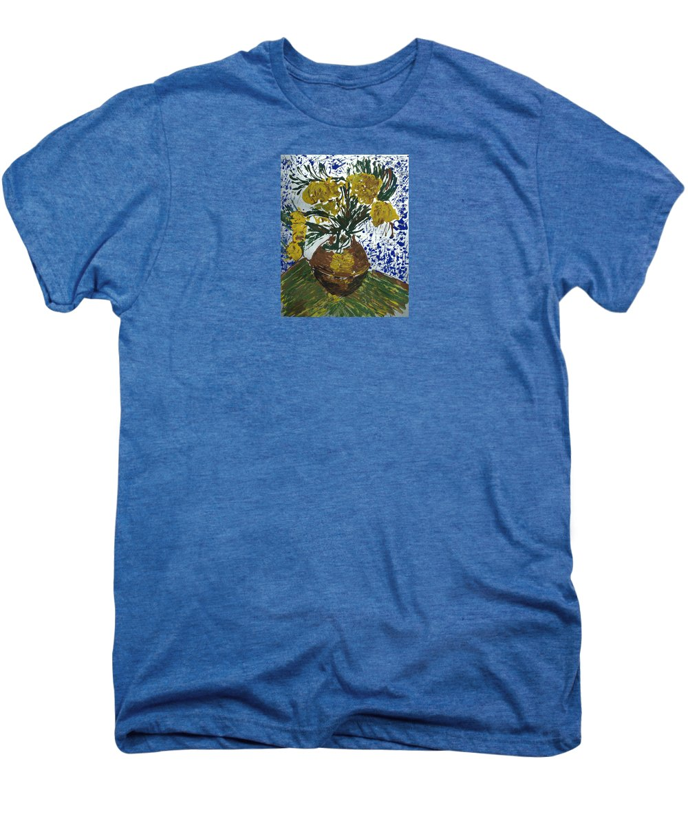 Flowers Men's Premium T-Shirt featuring the painting Van Gogh by J R Seymour