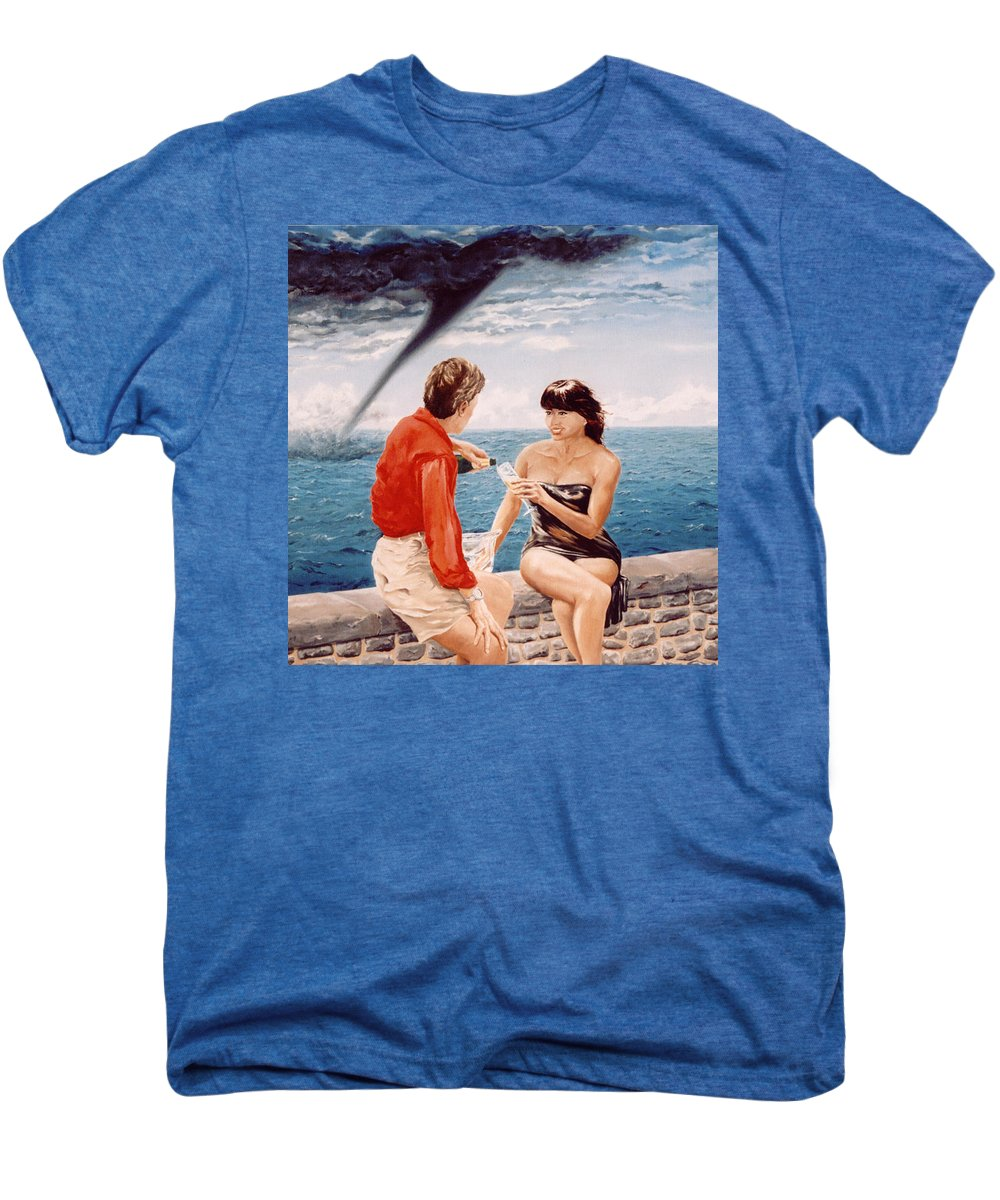 Whirlwind Men's Premium T-Shirt featuring the painting Whirlwind Romance by Mark Cawood