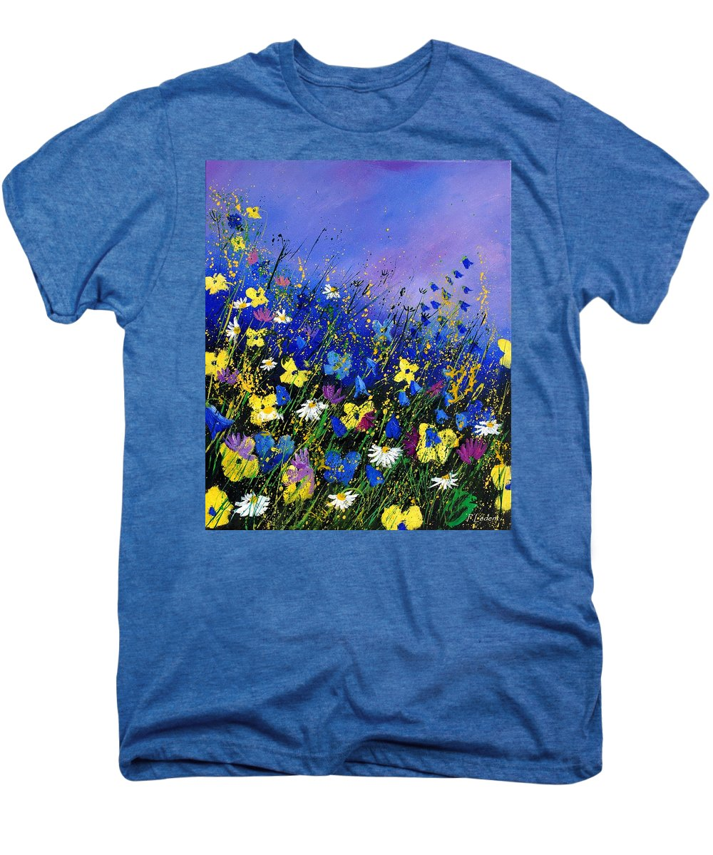 Flowers Men's Premium T-Shirt featuring the painting Wild Flowers 560908 by Pol Ledent