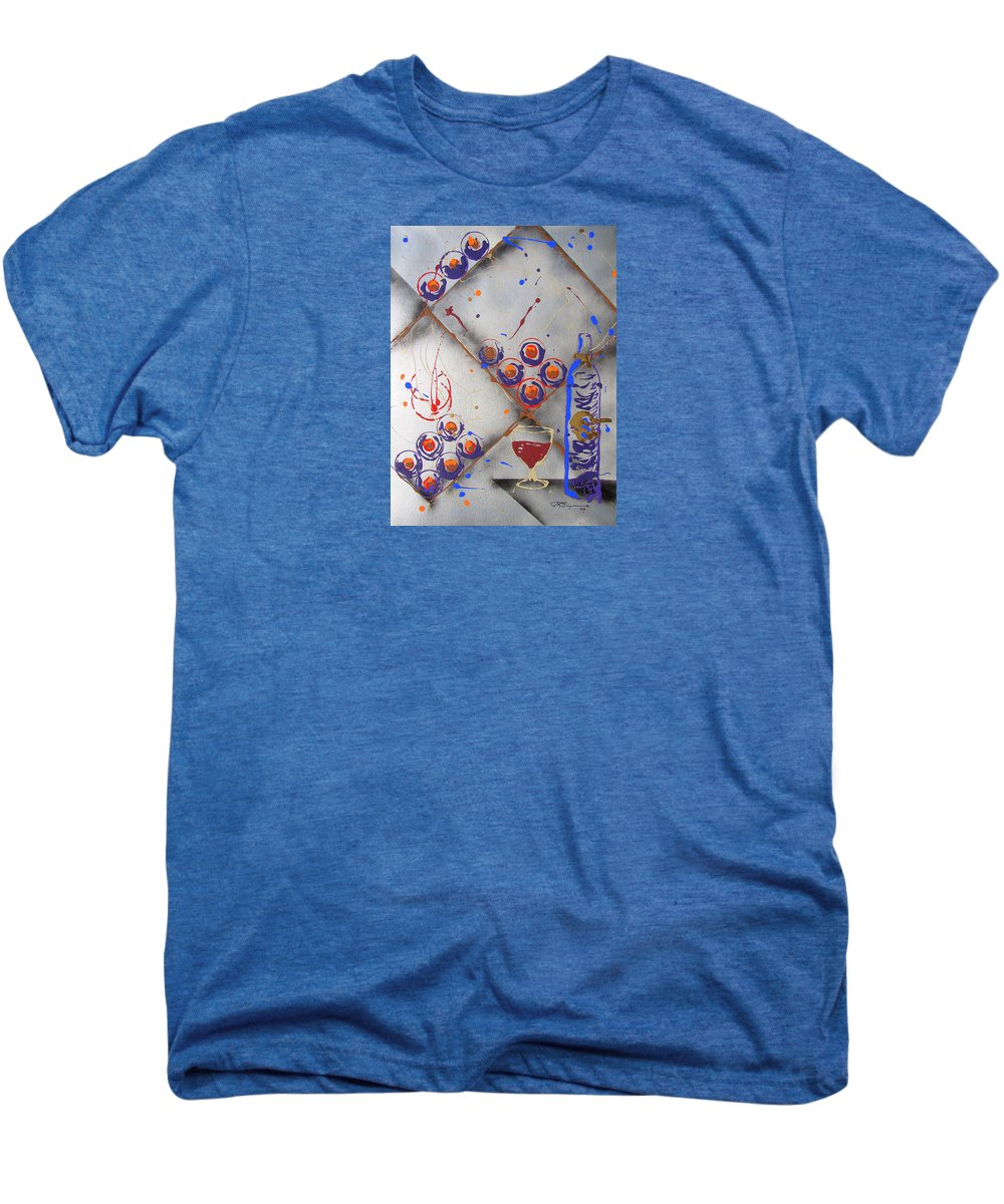 Impressionist Painting Men's Premium T-Shirt featuring the painting Wine Connoisseur by J R Seymour
