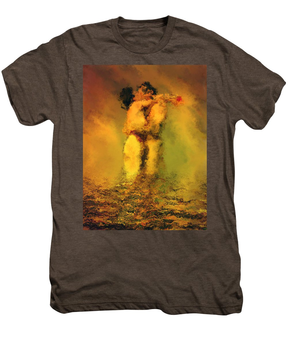 Nudes Men's Premium T-Shirt featuring the photograph Lovers by Kurt Van Wagner