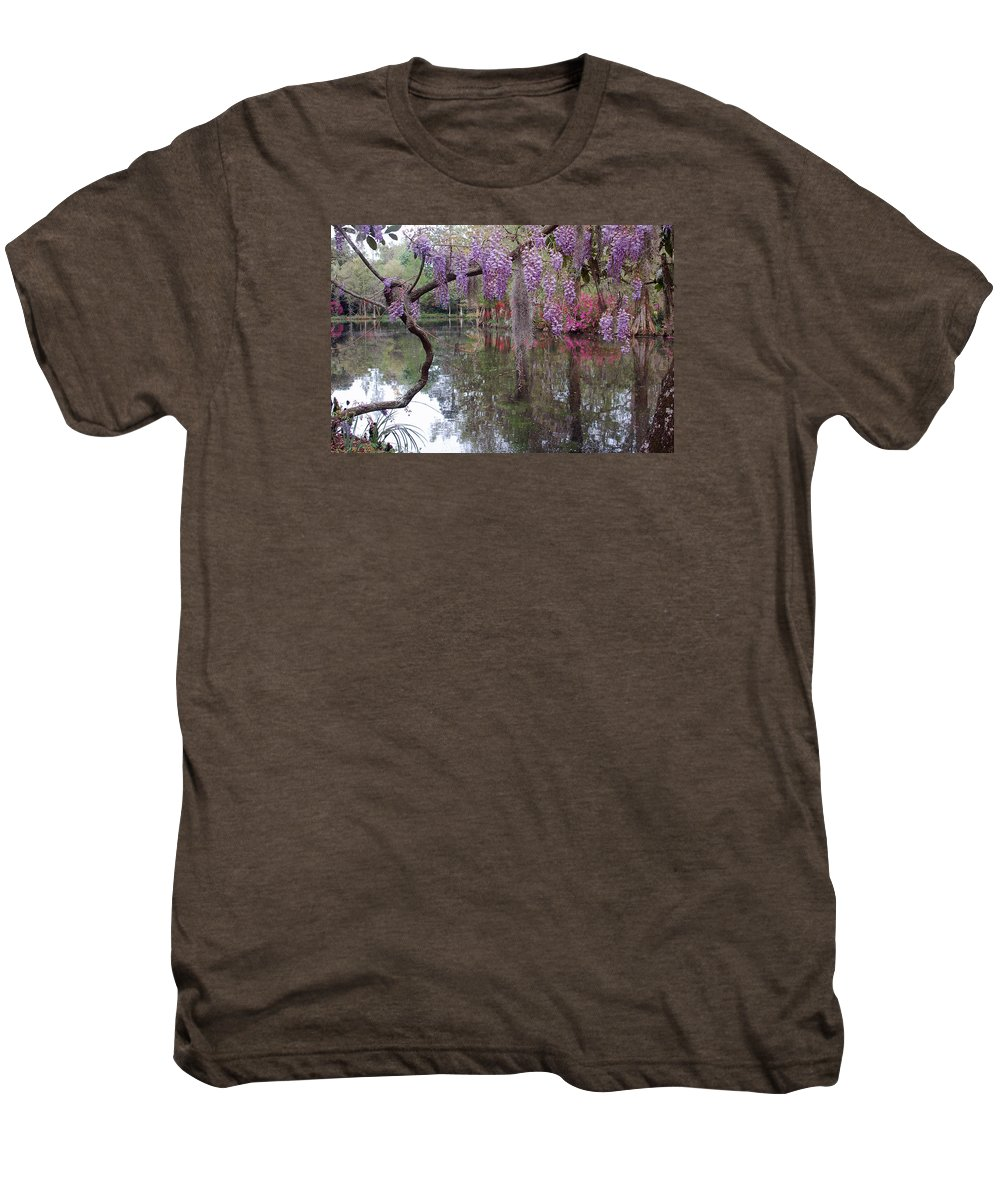 Wisteria Men's Premium T-Shirt featuring the photograph Magnolia Plantation Gardens Series II by Suzanne Gaff