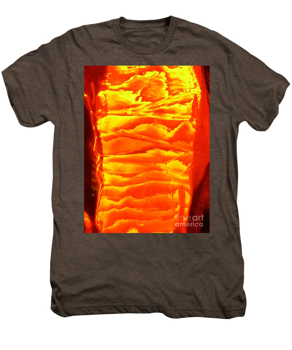 Orange Men's Premium T-Shirt featuring the photograph Abstract Orange by Amanda Barcon