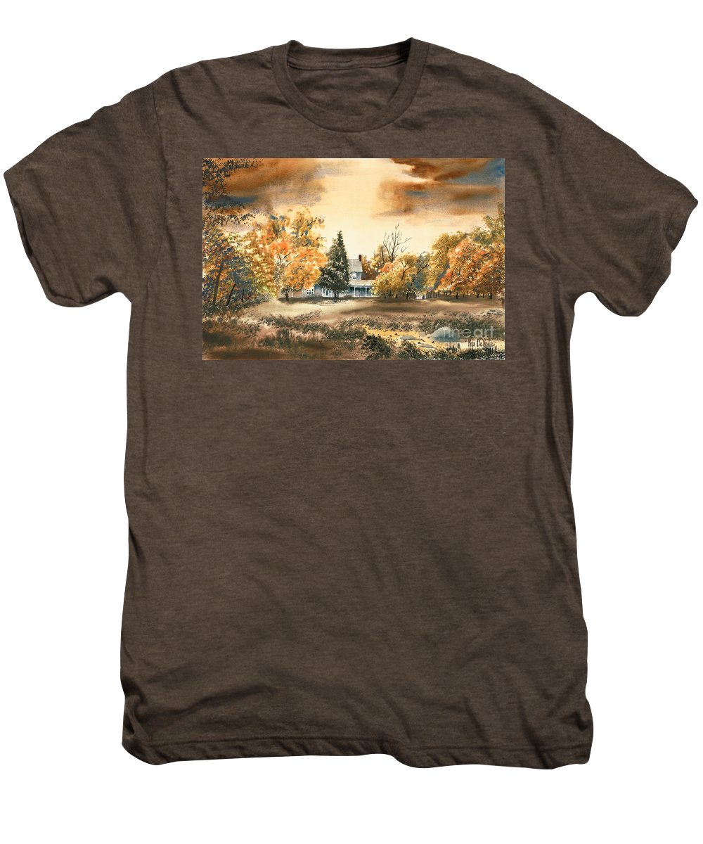 Autumn Sky No W103 Men's Premium T-Shirt featuring the painting Autumn Sky No W103 by Kip DeVore