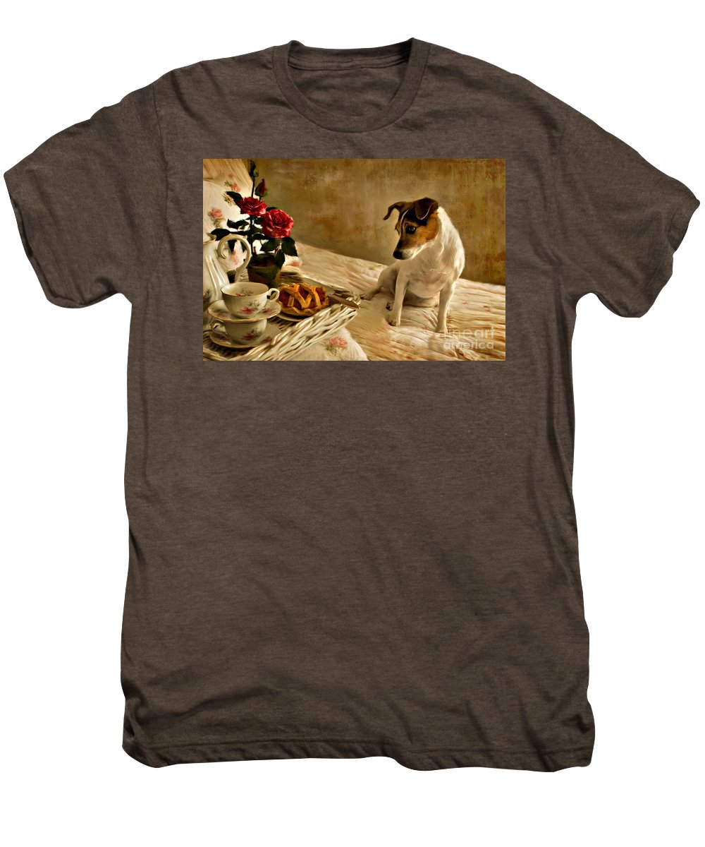 Men's Premium T-Shirt featuring the photograph Bon Appetit by Jean Hildebrant