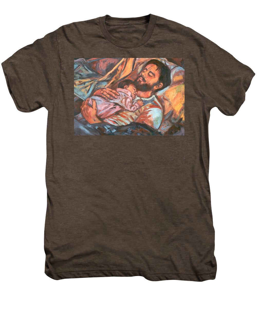 Figure Men's Premium T-Shirt featuring the painting Clyde And Alan by Kendall Kessler