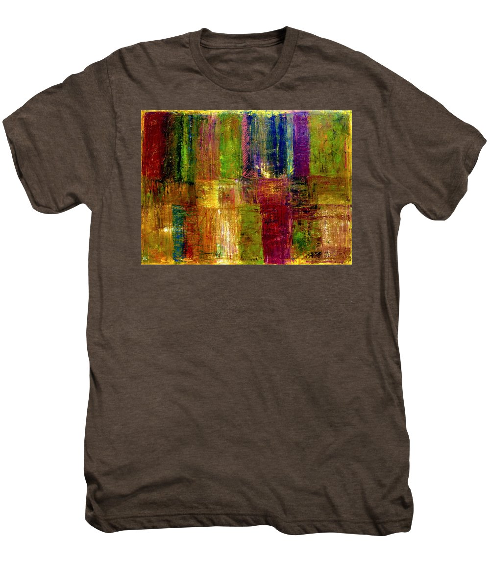 Abstract Men's Premium T-Shirt featuring the painting Color Panel Abstract by Michelle Calkins