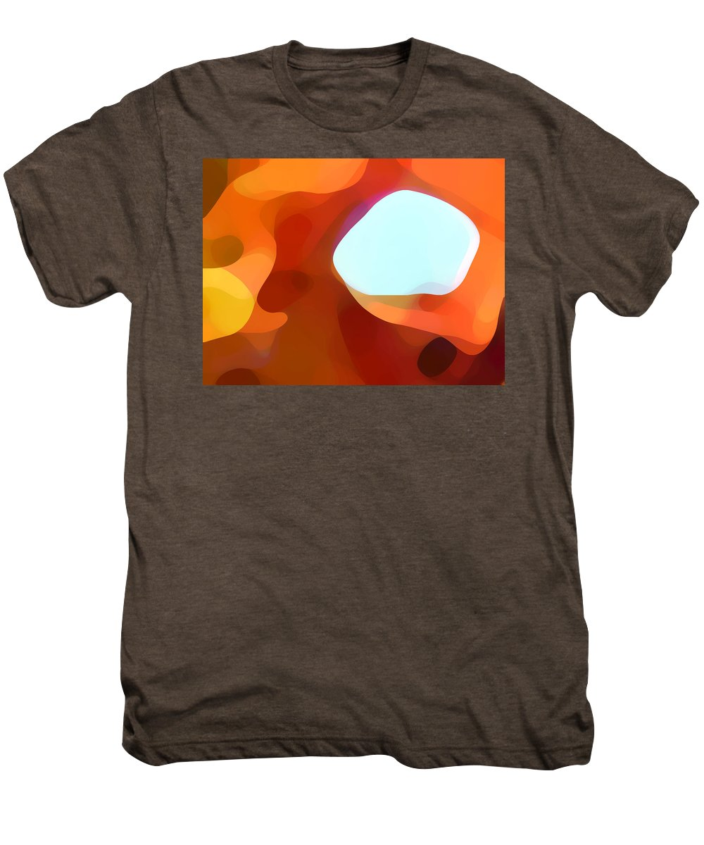 Abstract Men's Premium T-Shirt featuring the painting Fall Passage by Amy Vangsgard