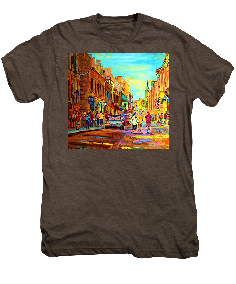 Montreal Men's Premium T-Shirt featuring the painting Follow The Yellow Brick Road by Carole Spandau