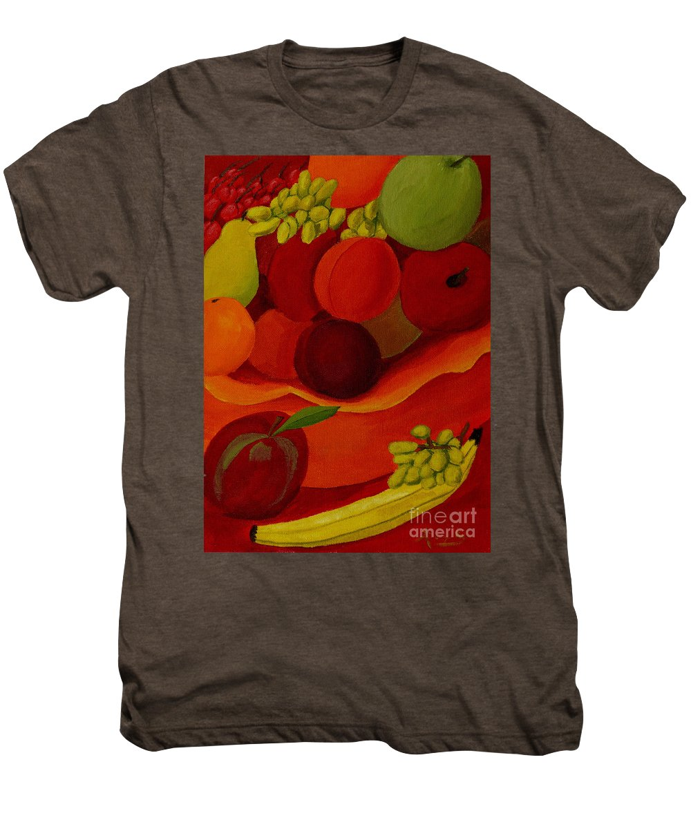 Fruit Men's Premium T-Shirt featuring the painting Fruit-still Life by Anthony Dunphy