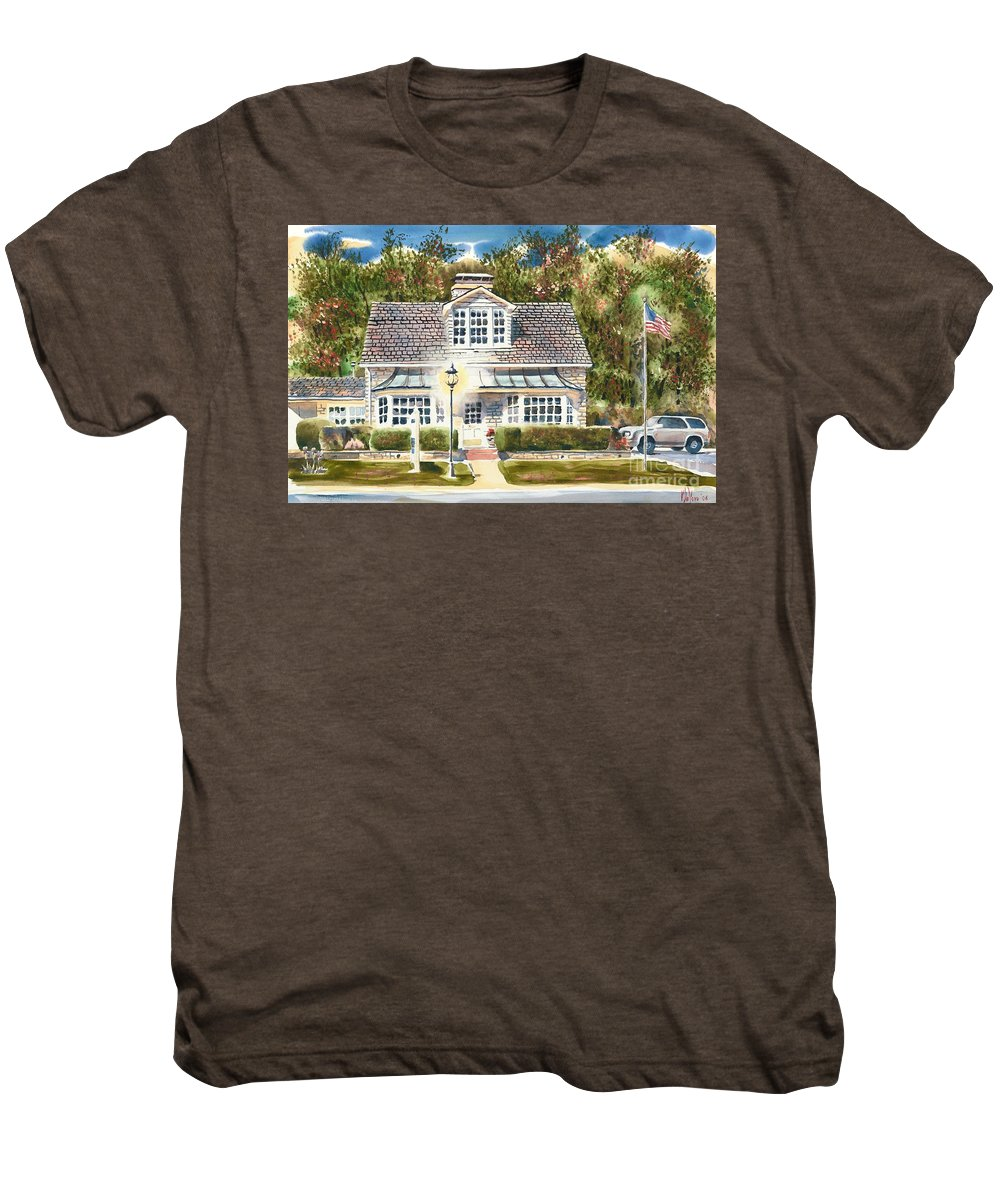 Greystone Inn Ii Men's Premium T-Shirt featuring the painting Greystone Inn II by Kip DeVore